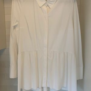 Lysse half pleated blouse White Medium